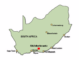 Skilderkrantz Map World Heritage Site Nature Reserve - Where is south africa map world
